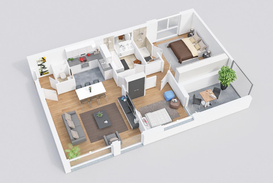 plan appartement Redwood Bruxelles