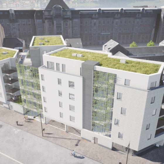 Immeuble à Namur - vue du haut