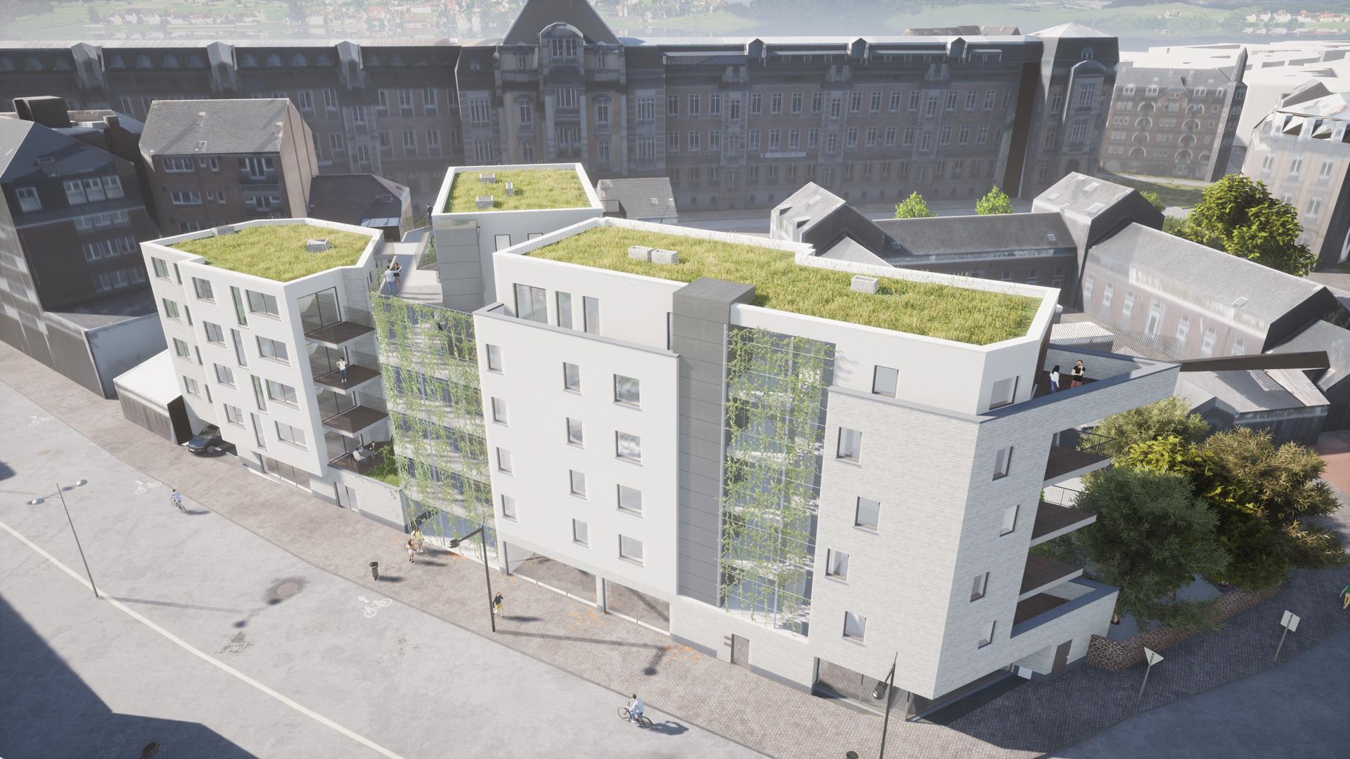 Immeuble à Namur - vu du haut